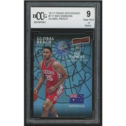 2016-17 Panini Aficionado #117 Ben Simmons / Global Reach (BCCG 9)