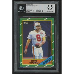 1986 Topps #374 Steve Young RC (BGS 8.5)