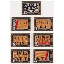 Lot of (7) 2016 Upper Deck All-Time Greats Master Collection Logo Collection Puzzle /125 Cards with