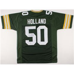 Johnny Holland Signed Packers Jersey (Beckett COA)