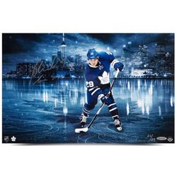"""William Nylander Signed Maple Leafs """"Toronto Skyline"""" 11x17 Limited Edition Photo Inscribed """"The Six"""