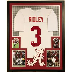 Calvin Ridley Signed Alabama Crimson Tide 34x42 Custom Framed Jersey Display (JSA COA)