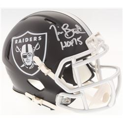 "Tim Brown Signed Raiders BLAZE Mini-Helmet Inscribed ""HOF 15"" (Radtke COA)"