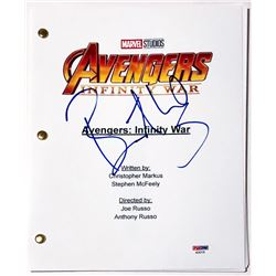 "Benedict Wong Signed ""Avengers: Infinity War"" Full Movie Script (PSA COA)"