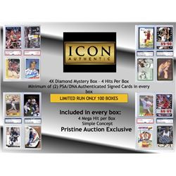 ICON AUTHENTIC 4X DIAMOND MYSTERY BOX – 4 HITS PER BOX