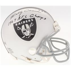 "Billy Cannon Signed Raiders Throwback Mini-Helmet Inscribed ""1967 A.F.L. Champs"" (Radtke COA)"