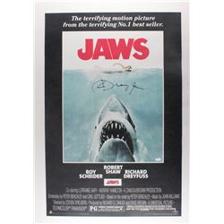 "Richard Dreyfuss Signed ""Jaws"" 24x36 Movie Poster (JSA COA)"
