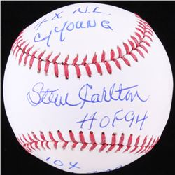 Steve Carlton Signed OML Baseball with (3) Inscriptions (SGC COA)