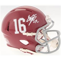 Eddie Lacy Signed Alabama Crimson Tide Mini Speed Helmet (Radtke COA)