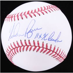 "Nolan Ryan Signed OML Baseball Inscribed ""11x K Leader"" (Beckett COA)"