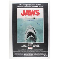"Susan Backlinie Signed ""Jaws"" 24x36 Movie Poster Inscribed ""Chrissie""  ""1st Victim"" (JSA COA)"
