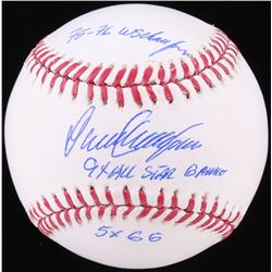 Dave Concepcion. Signed OML Baseball with (3) Inscriptons (JSA COA)
