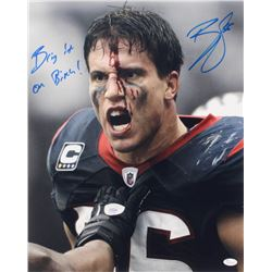 "Brian Cushing Signed Texans 16x20 Photo Inscribed ""Bring It On B*****"" (JSA COA)"