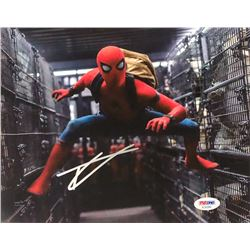 "Tom Holland Signed ""Spider-Man: Homecoming"" 8x10 Photo (PSA COA)"