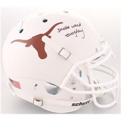 """Ricky Williams Signed Texas Longhorns Full-Size Authentic On-Field Helmet Inscribed """"smoke weed ever"""