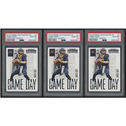 Lot of (3) 2016 Panini Contenders Draft Picks Game Day Tickets #2 Jared Goff RC (PSA 10)