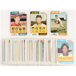 Lot of (100) 1974 Topps Baseball Cards with #356 Jerry Koosman, #236 Red Schoendienst MG/Barney Schu
