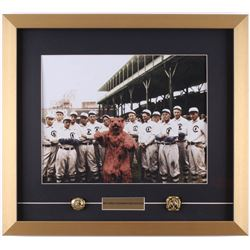 1907 Chicago Cubs 18x20 Custom Framed Photo Display with (2) Replica Championship Rings