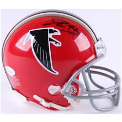 Deion Sanders Signed Falcons Mini Helmet (JSA COA)