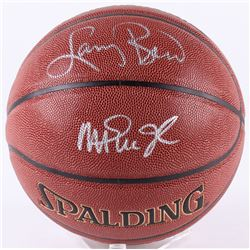 Larry Bird  Magic Johnson Signed Basketball (Beckett COA  Bird Hologram)