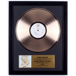 "Van Halen ""1984"" Custom Framed 16x20 Gold Plated Record Album Award Display"