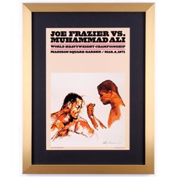 "LeRoy Neiman ""Joe Frazier vs. Muhammad Ali"" 17x22 Custom Framed Poster Display"