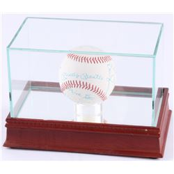 Yankee Greats OLL Baseball Signed by (18) with Whitey Ford, Mickey Mantle, Billy Martin, and Joe Col