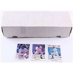 1990 Leaf Complete Set of (528) Baseball Cards With #245 Ken Griffey Jr., #300 Frank Thomas RC, and