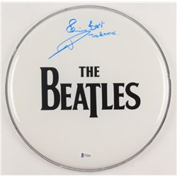 "Pete Best Signed ""The Beatles"" 12"" Drum Head Inscribed ""The Beatles"" (Beckett COA)"
