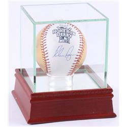 Nolan Ryan Signed 24kt Gold Home Run Derby Logo OML Baseball with High Quality Display Case (PSA COA