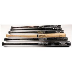 Lot of (6) Assorted Game-Used Baseball Bats