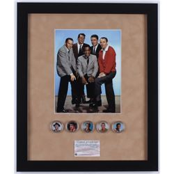 """""""Rat Pack"""" 16x19 Custom Framed Photo Display with (5) Colorized Coins"""