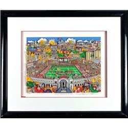 """Charles Fazzino Signed Ohio State Buckeyes """"Saturday Afternoon in the Shoe"""" 21x25 Custom Framed 3D A"""