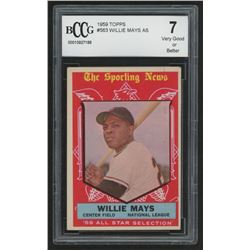 1959 Topps #563 Willie Mays All-Star (BCCG 7)
