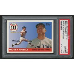 2006 Topps Mantle Home Run History #118 Mickey Mantle (PSA 10)