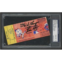 """Nolan Ryan Signed 1969 World Series Game 5 Ticket Inscribed """"'69 W.S. Champs"""" (PSA 10)"""