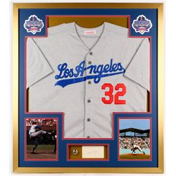 Sandy Koufax Signed Dodgers 32x36 Custom Framed Cut Display with Championship Ring (PSA)