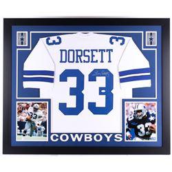 """Tony Dorsett Signed Cowboys 35"""" x 43"""" Custom Framed Jersey (JSA COA)"""