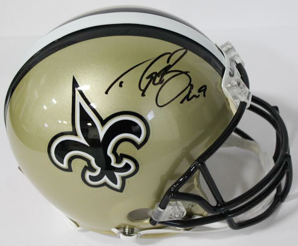 Image 1   Drew Brees Signed Saints Authentic On-Field Full-Size Helmet ( 8f2a4e02c