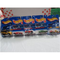 HOT WHEELS TOY VEHICLES, LOT OF 5 ASSORTED