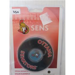 CANADIAN OTTAWA SENATORS, SPECIAL EDITION LOONIE & HOCKEY PUCK