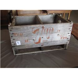 7UP WOODEN CRATE, 1 DIVIDER
