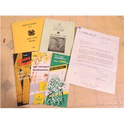 LOT OF PAMPHLETS, SASK 4-H, KNOEDLER WAGONS, ETC