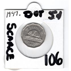 1947 DOT SCARCE: NICE SHAPE FEW SCRATCHES