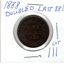 1888 LARGE CENTS DOUBLED LAST 88