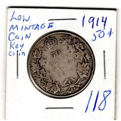 1914 50 CENT SEMI KEY DATE
