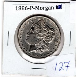 1886P U.S. MORGAN DOLLAR