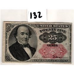 USA FRACTIONAL CURRENCY 25 CENTS SERIES 1874