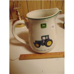 JOHN DEERE CERAMIC WATER PITCHER