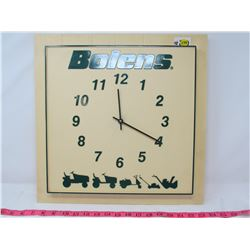 BOLENS BATTERY OPERATED WALL CLOCK